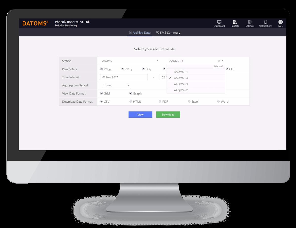 Datoms report generate dashboard